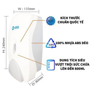 Đặc điểm hộp đựng xà bông roto800 - Paper.vn