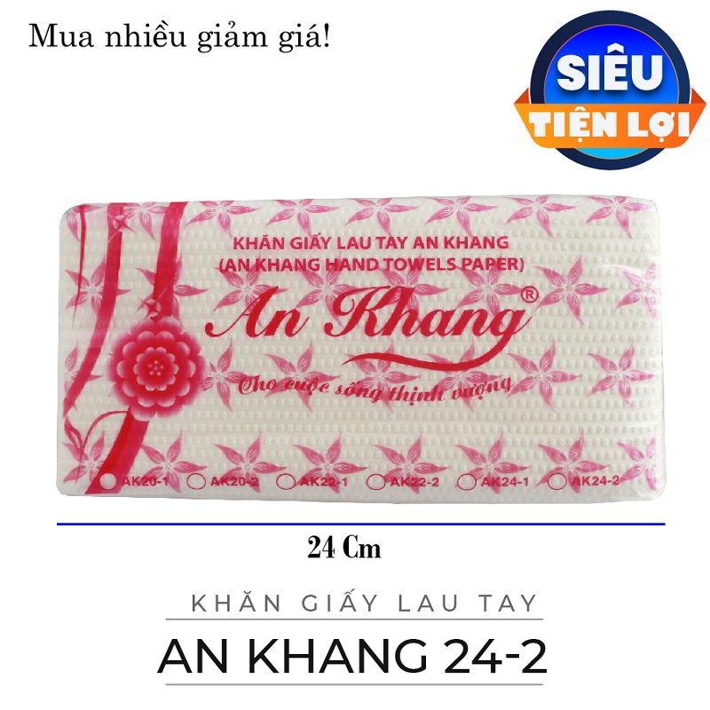 Cung cấp khăn giấy lau tay an khang 24-2 lớp -paper.vn