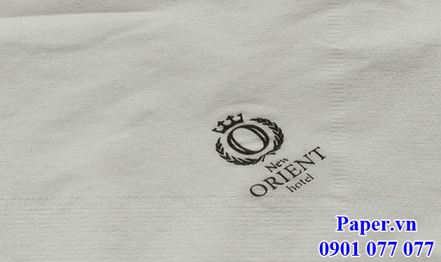 Khăn giấy in logo New Orient Hotel