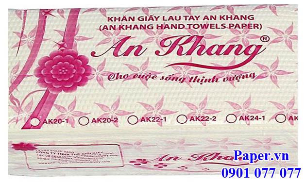 Khăn giấy lau tay An Khang 24-2 lớp