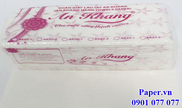 Khăn giấy lau tay An Khang 20-2 lớp (AK20-2)