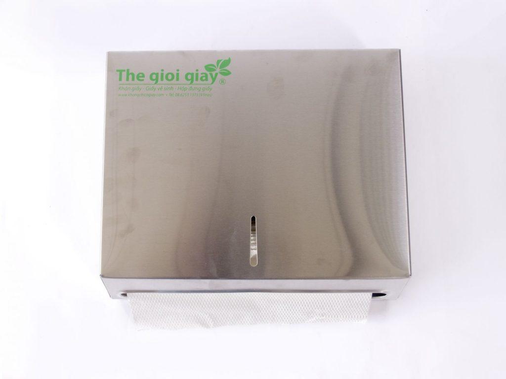 Hộp đựng khăn giấy Inox vuông với chất lượng cao cấp, bền bỉ, sang trọng