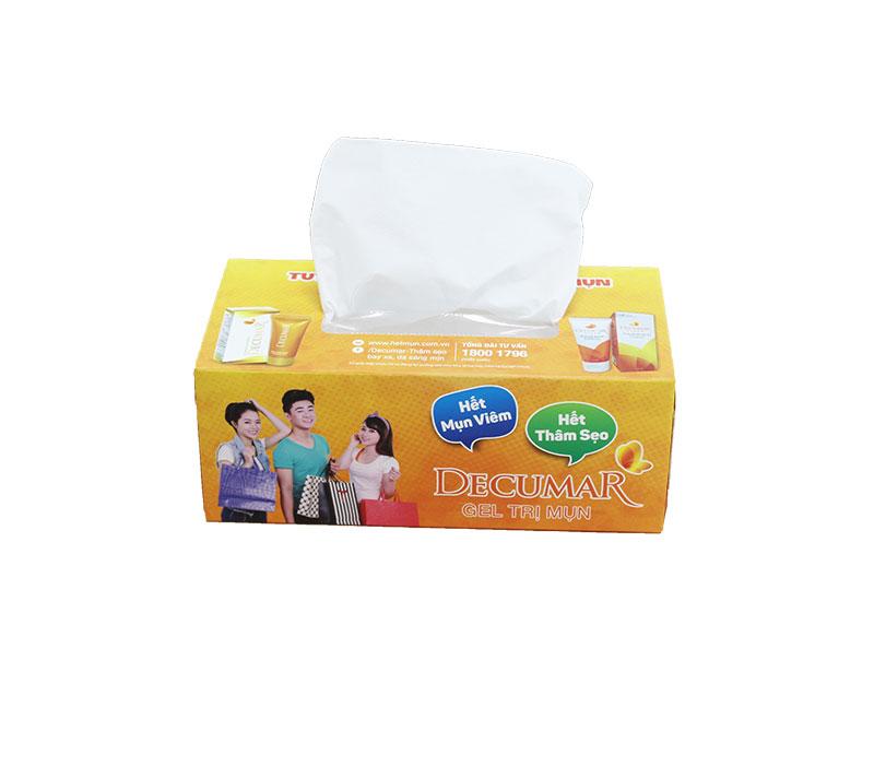 Khăn giấy lụa hộp quảng cáo