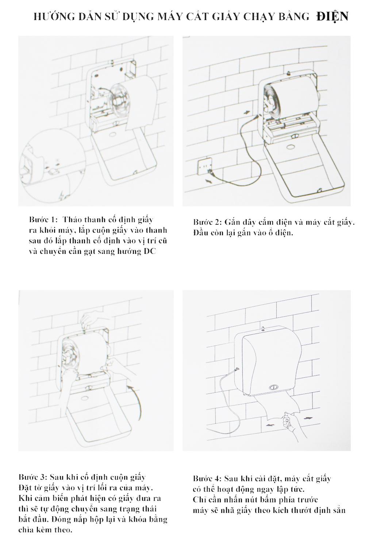 Cách sử dụng máy cắt giấy chạy bằng Điện
