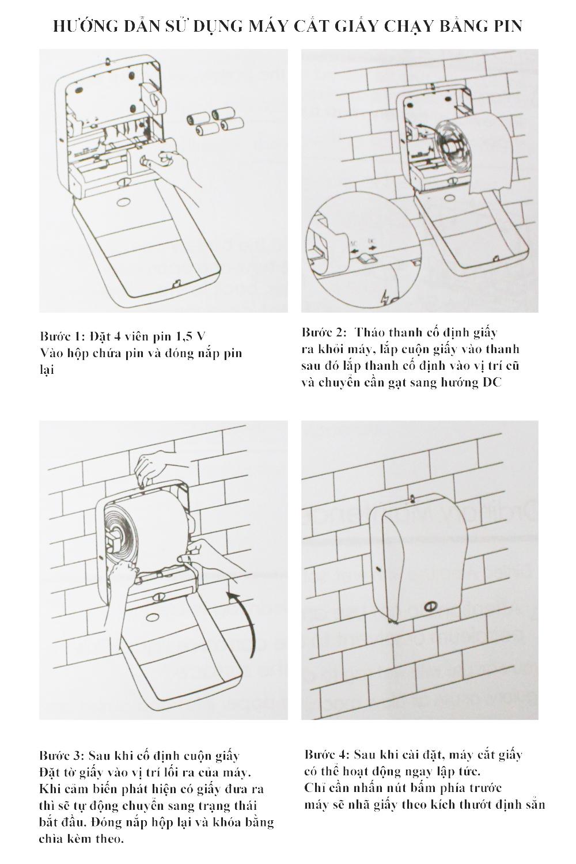 Cách sử dụng máy cắt giấy chạy bằng Pin
