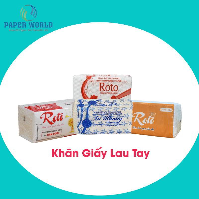 Các sản phẩm khăn giấy lau tay tại Thế Giới Giấy