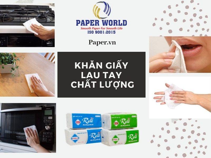 Một số công dụng khi sử dụng khăn giấy lau tay