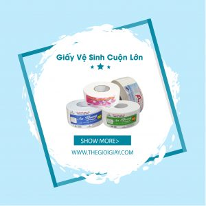 Giấy vệ sinh cuộn lớn Tp HCM tại Thế Giới Giấy đảm bảo chính hãng
