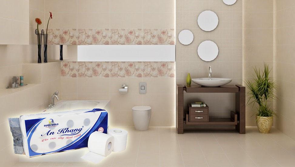 Giấy vệ sinh cuộn nhỏ dùng trong khách sạn