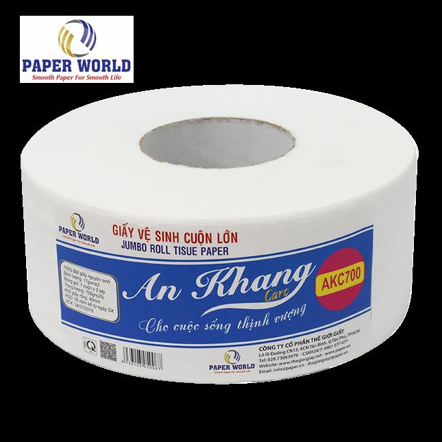 Giấy vệ sinh cuộn lớn cao cấp An Khang Caro700 được các đơn vị lớn ưu ái