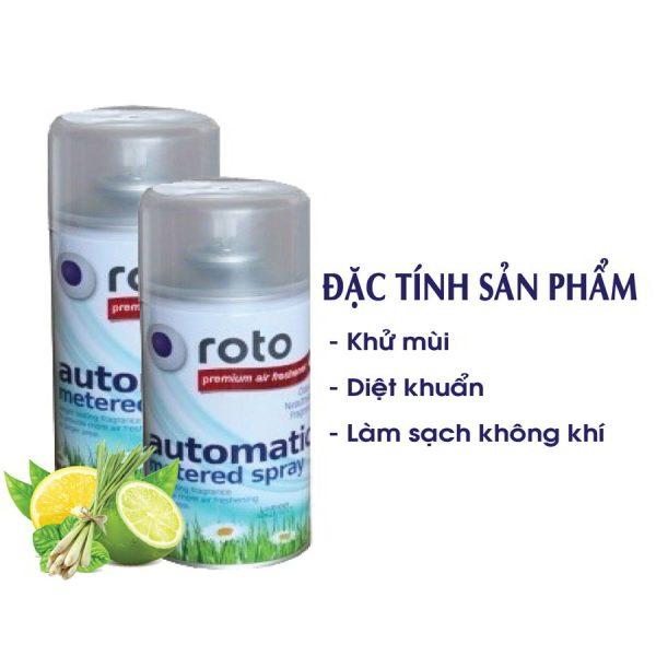 Đặc tính sản phẩm nước hoa xịt phòng roto300-paper.vn