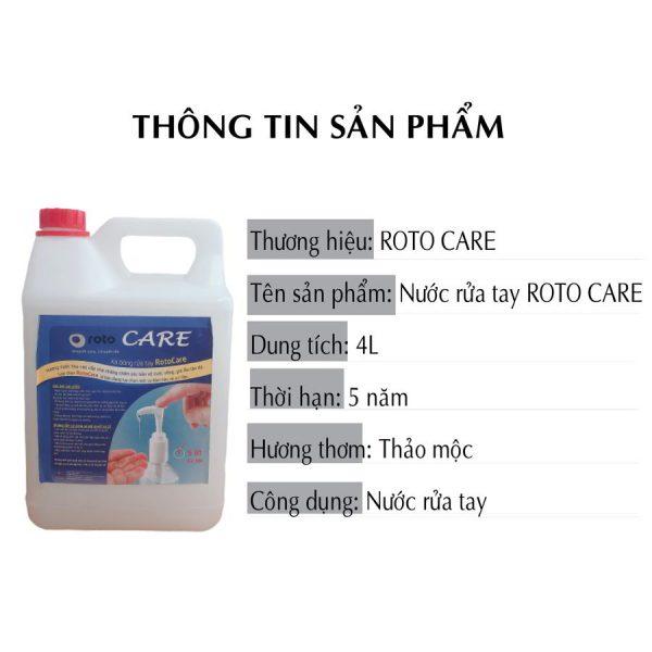 Thông tin sản phẩm nước xà bông rửa tay roto care500-paper.vn