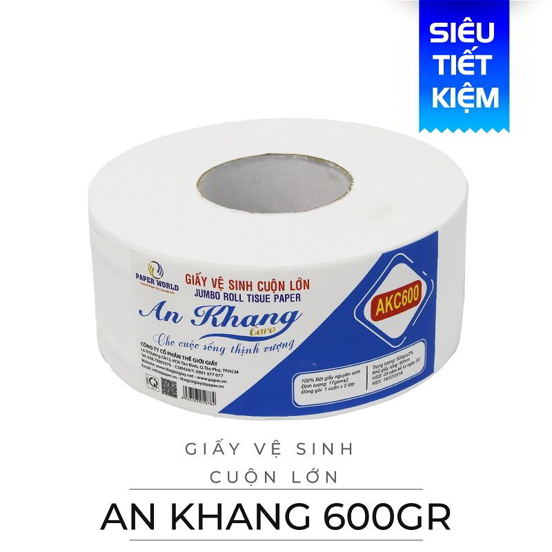 Cung cấp giấy vệ sinh cuộn lớn an khang caro600-paper.vn