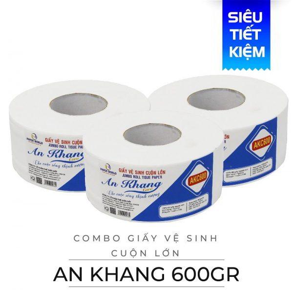 Mua giấy vệ sinh cuộn lớn An Khang caro600-paper.vn