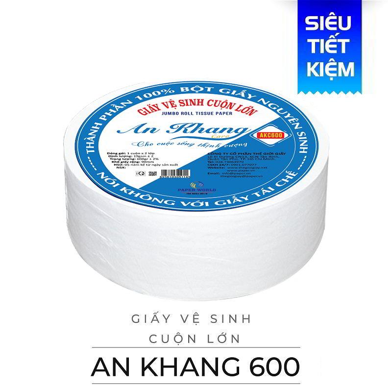 Cung cấp giấy vệ sinh cuộn lớn An Khang caro600