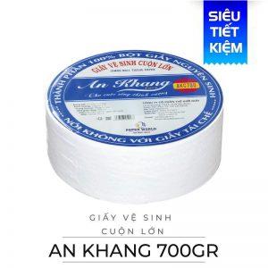 Cung cấp giấy vệ sinh cuộn lớn An Khang Caro700-paper.vn
