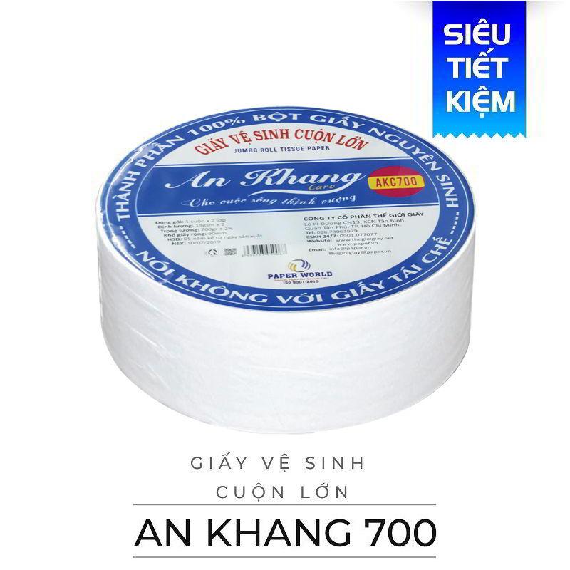 Cung cấp giấy vệ sinh cuộn lớn an khang caro700-thegioigiay.net