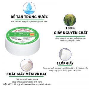 Đặc điểm của giấy vệ sinh cuộn lớn An Khang Soft700
