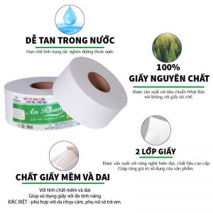 Đặc điểm của giấy vệ sinh cuộn lớn An Khang Soft900