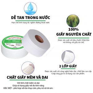 Giấy vệ sinh cuộn lớn An Khang Soft900
