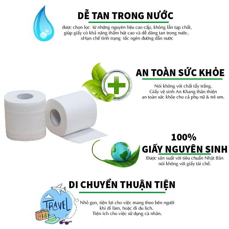 ưu điểm của giấy vệ sinh cuộn nhỏ An Khang Soft10-aks10-paper.vn