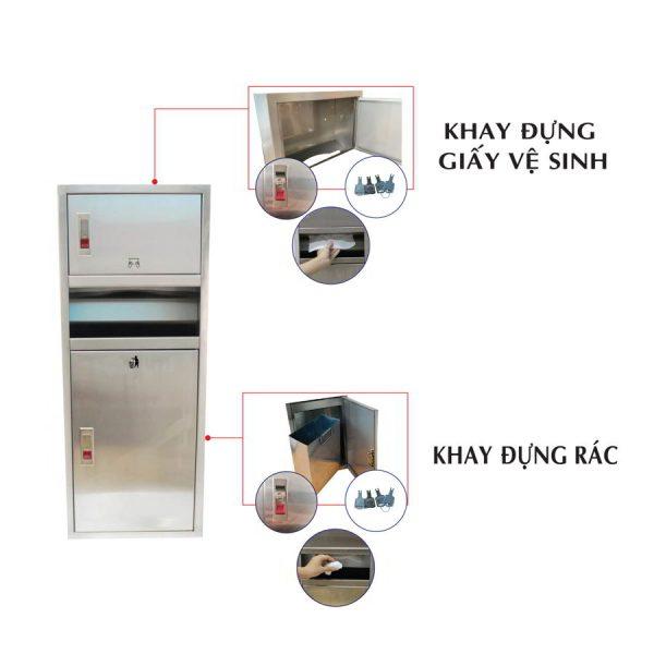 Ưu điểm của hộp đựng giấy lau tay có thùng rác roto730-paper.vn