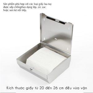 Hình dạng bên trong của hộp đựng giấy lau tay roto inox 1220I - Paper.vn