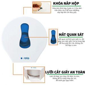 Đặc điểm hộp đựng giấy vệ sinh cuộn lớn RT3303 - Paper.vn