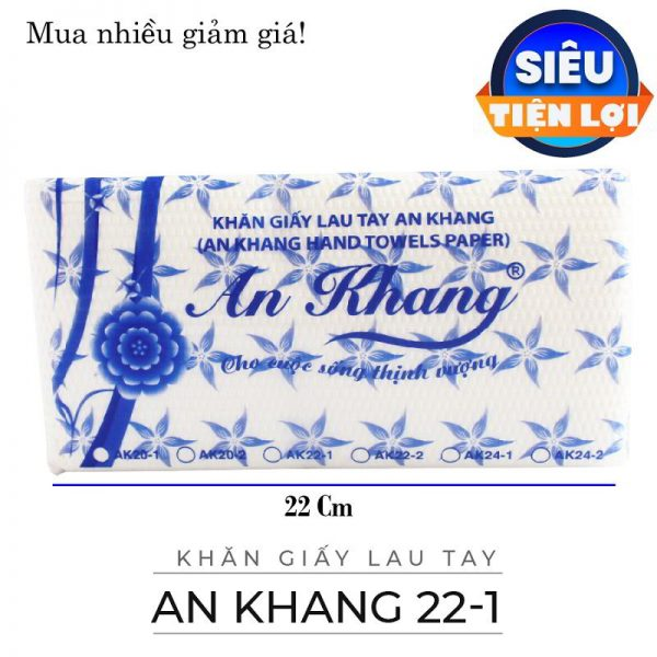 Cung cấp khăn giấy lau tay an khang 22-1-paper.vn