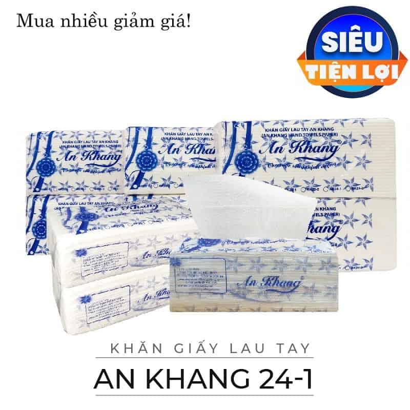 Cung cấp khăn giấy lau tay an khang 24-1-paper.vn