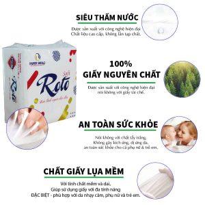 Ưu điểm của khăn giấy vuông RTS100 - Paper.vn
