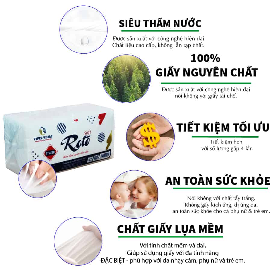 Ưu điểm của khăn giấy napkin JPS400 - Paper.vn