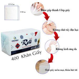 Đặc điểm của khăn giấy vuông roto soft400 - RTS400 - Paper.vn