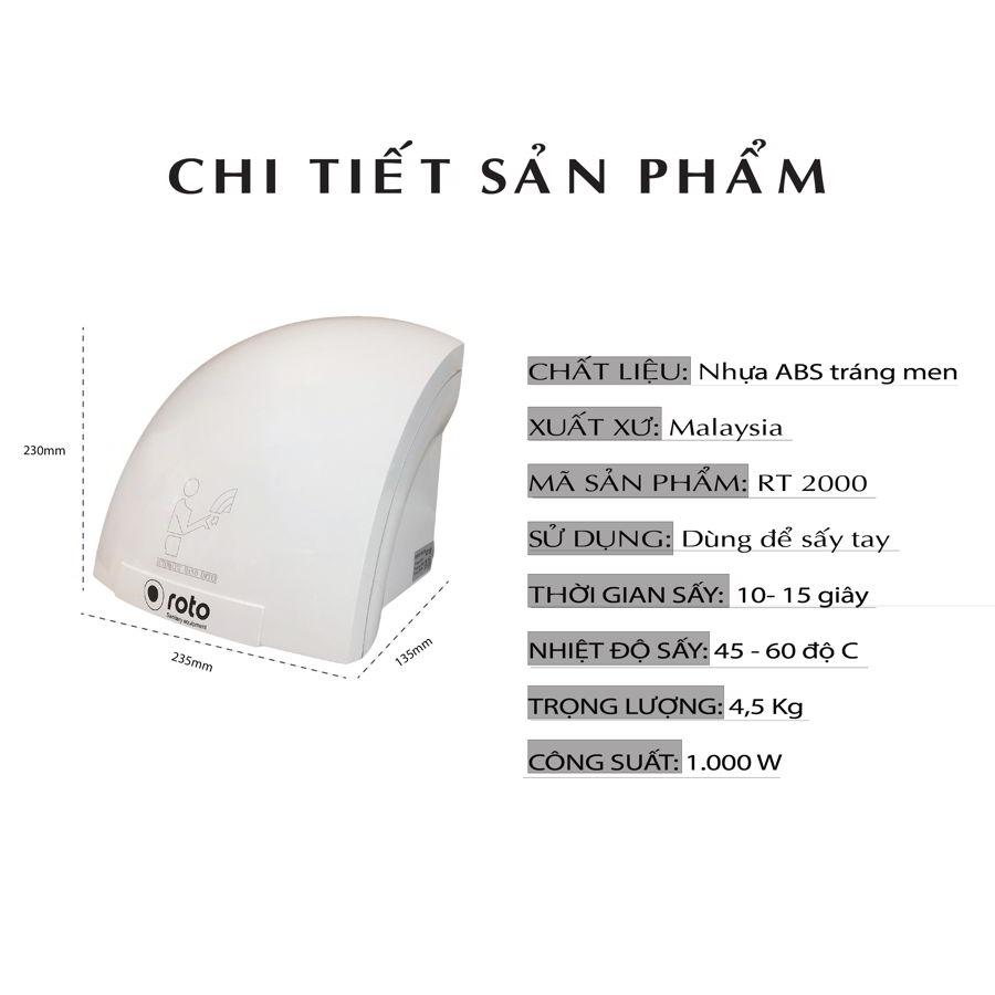 Chi tiết sản phẩm máy sấy tay roto2000-paper.vn