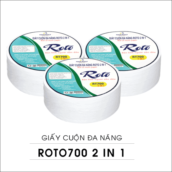 Giấy Cuộn Lớn Đa Năng Roto 700g 2in1 (RT700)