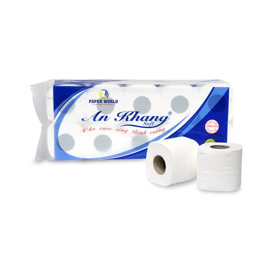 Giấy vệ sinh cuộn nhỏ An Khang Soft10