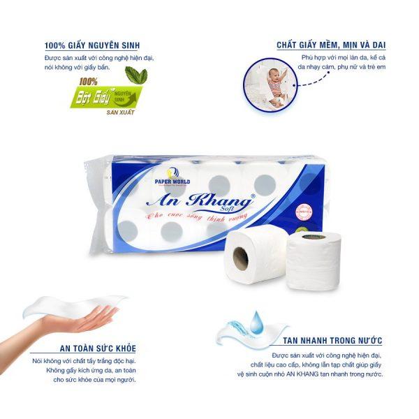 Lợi ích khi sử dụng giấy vệ sinh cuộn nhỏ AKS10