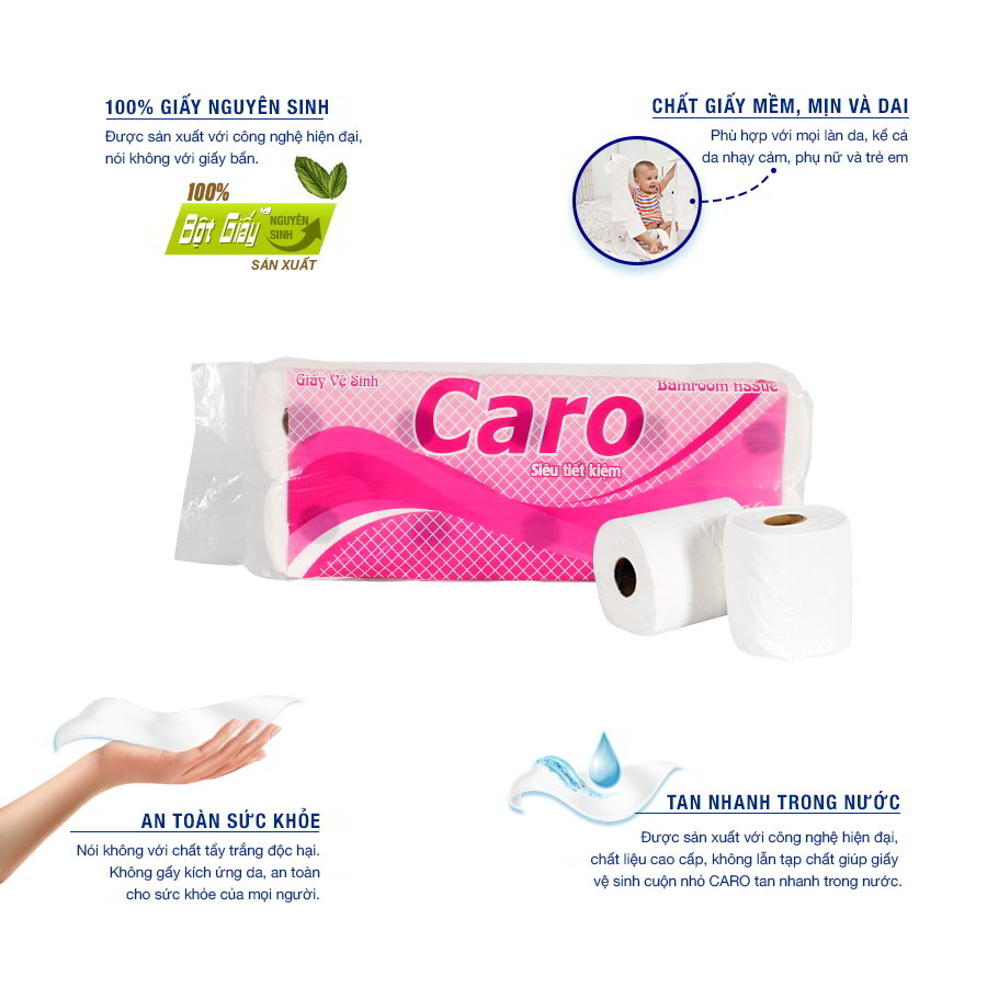 Lợi ích sử dụng Giấy vệ sinh cuộn nhỏ
