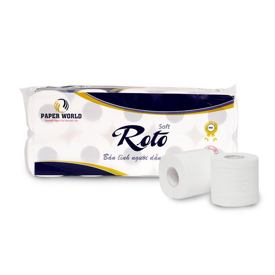 Giấy vệ sinh cuộn nhỏ cao cấp Roto Silk10