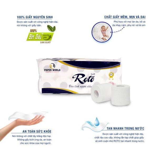 Lợi ích khi sử dụng Giấy vệ sinh cuộn nhỏ cao cấp Roto Silk10