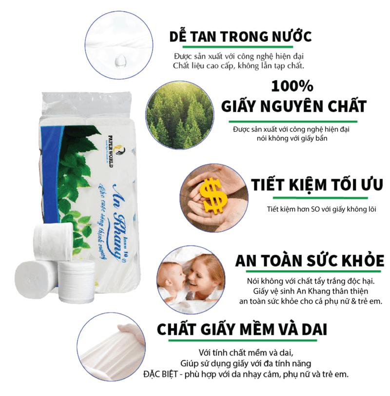 Cung cấp giấy vệ sinh cuộn nhỏ an khang inno10- paper.vn