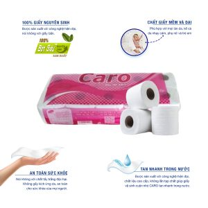 Ưu điểm của giấy vệ sinh cuộn nhỏ Caro10-paper.vn