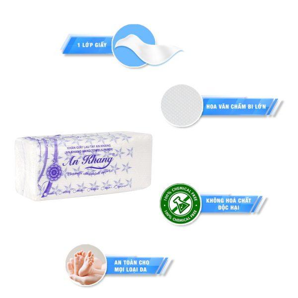 Đặc điểm Khăn giấy lau tay an khang 22-1 chất lượng