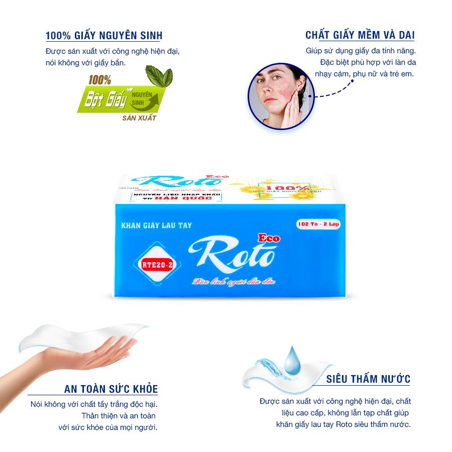 Đặc điểm của khăn giấy lau tay roto eco 20-2-paper.vn
