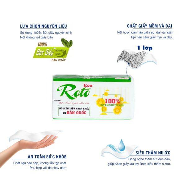 Ưu điểm Khăn giấy đa năng Roto Eco 20-1