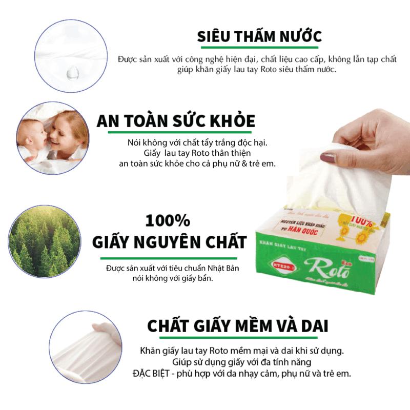Khăn giấy lau tay roto eco20-1-lớp