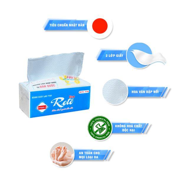 Đặc điểm của khăn giấy lau tay roto eco 20-2