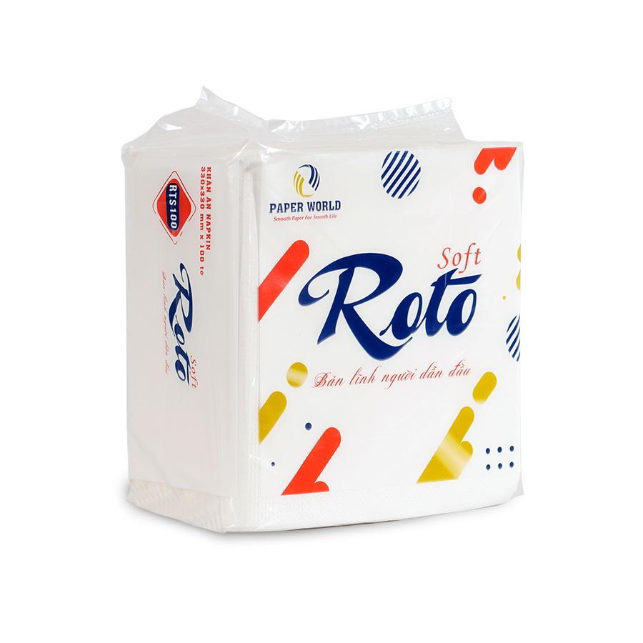 Khăn giấy napkin roto soft100 siêu tiết kiệm