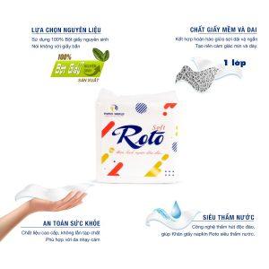 Ưu điểm Khăn giấy napkin roto soft100 siêu tiết kiệm