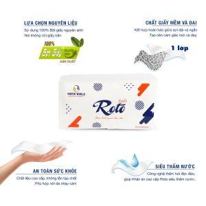 Ưu điểm Khăn giấy napkin roto soft400